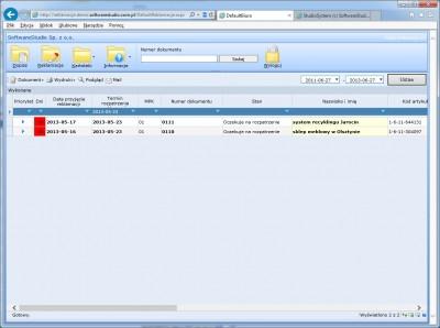 program reklamacje filtrowanie wg daty